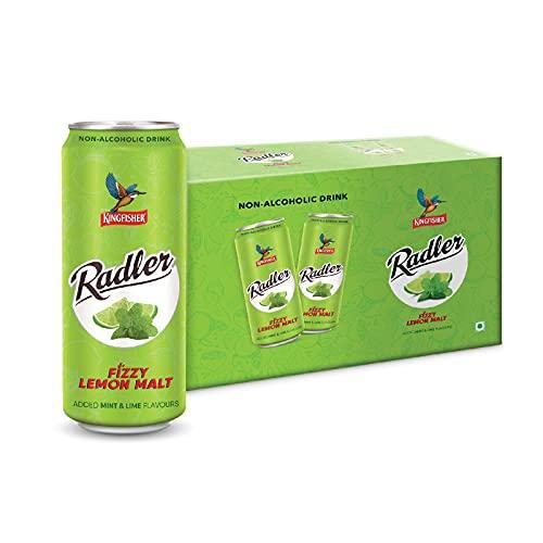 Kingfisher Radler – Non Alcoholic Malt Drink – Mint & Lime, 24 x 300 ml