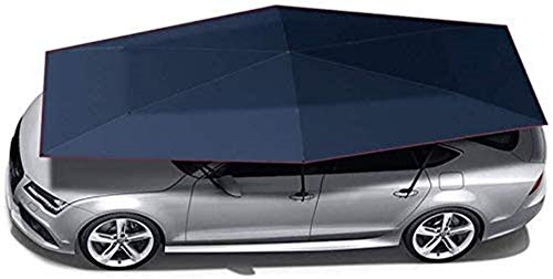 GMZTT Car Sunshades Automatic Car Cover Tent Outdoor Folding Portable Car Shed Sunshade Rain Shield Canopy Mobile Security, Color 2 (Color : Gray-4.2x2.2m) (Color : Blue4.2x2.2m)