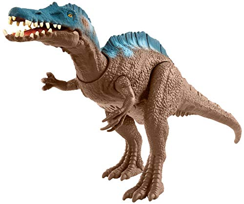 Jurassic World Sound Strike Irritator Dinosaur Action Figure with Strike and Chomping Action, Realistic Sounds, Movable Joints, Authentic Color and Texture; Ages 4 and Up