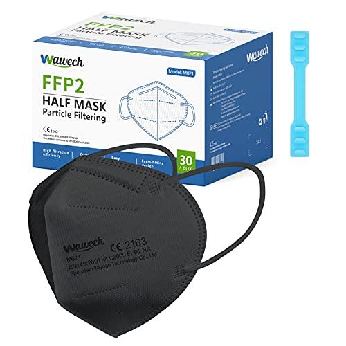 Wawech Mascarillas FFP2 homologadas 5 capasde 30 PACK protección de filtro contra...
