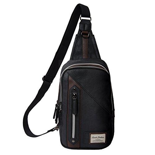 [RONDE]ボディバッグ ショルダーバッグ 斜めがけバッグ ワンショルダーバッグ ボディーバッグ メンズ メンズ ブラック
