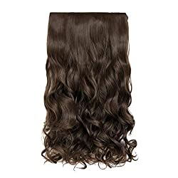 small REECHO 20 ″ 1 pack 3/4 curly wave clip, full head, artificial hair…