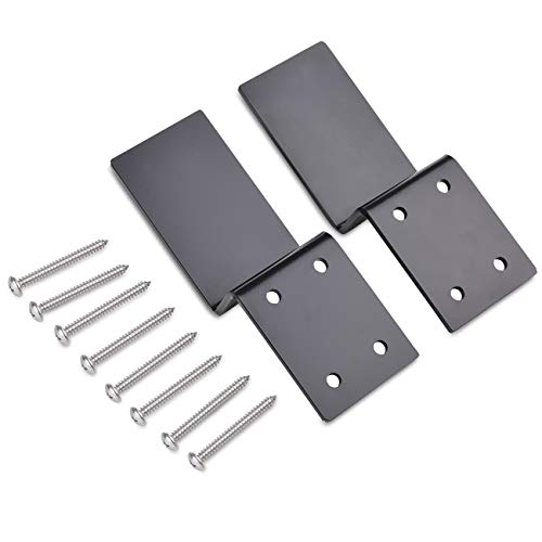 Heavy Duty Open Bar Security Holder Bracket, Using with Standard 2 X 4's (1 Pair 2 Pieces with Screw)