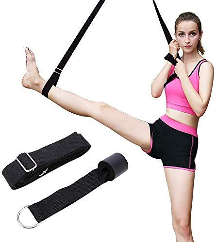 DEIRIS - Extensor de piernas largo ajustable con 3 m para pilates, entrenamiento, equipo de gimnasia con anclaje de puerta, correas de cinturón de yoga, entrenamiento, estiramiento y equilibrio de flexibilidad