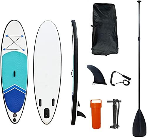 WEUN Tableros de Surf Tableros de paletas, Paddleboard Inflable con Bomba Impermeable Viaje Mochila Correa Soporte Paddle Board