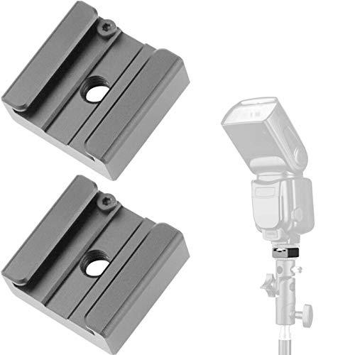 ChromLives Soporte para zapata fría, adaptador de zapata fría de flash, soporte...
