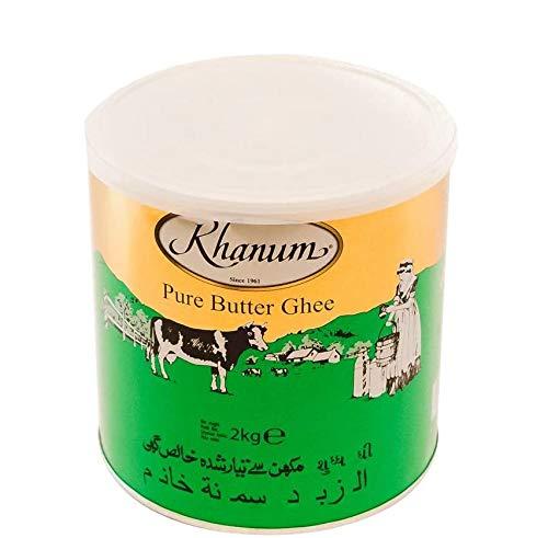 Khanum - Burro chiarificato (Ghee) in lattina, 2 Kg