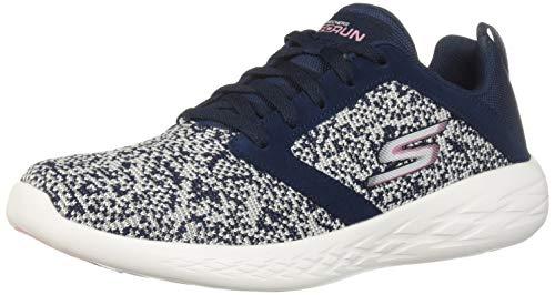 Skechers Women's GO Run 600-15097 Sneaker, Navy/Pink, 5.5 M US