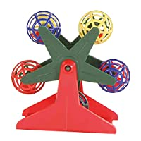 Colourful toy for small birds Keep your bird busy at all times Made from plastic material Comes with little rattling balls Height: 10 cm