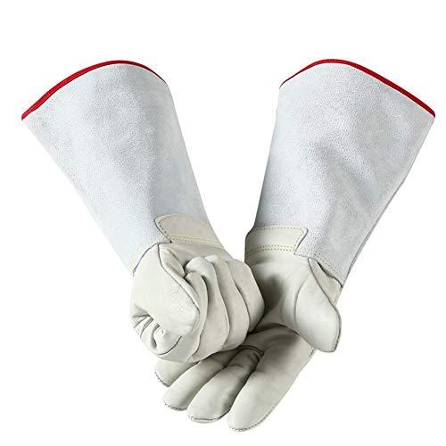 WJSW Handschuhe aus frostsicherem Leder, niedrige Temperatur- und Stickstoffbeständigkeit, kalte Lagerung mit EIS, lang und dick, Verschiedene Größen (36 cm), 40cm