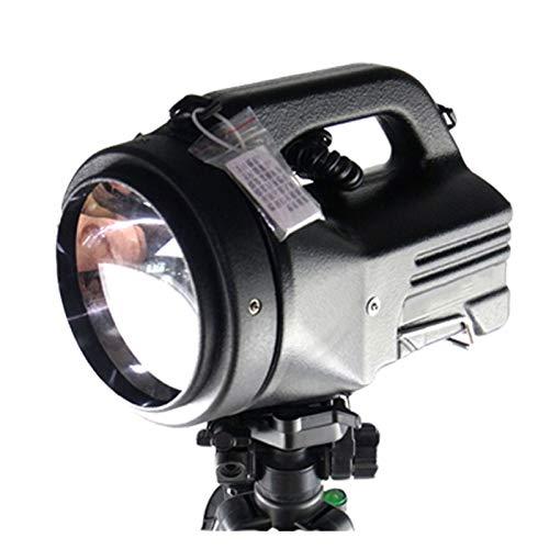 JSJJAUA Faroles de Mano Alta Potencia de 100W Reflector Caza al Aire Libre 75W Potente Reflector Construido en una batería Recargable 12V20Ah Reflector HID (Body Color : 35W, Emitting Color : White)