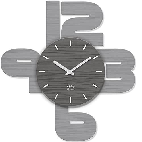 orologio da parete salotto DEKORI - Orologio da parete grande con design moderno