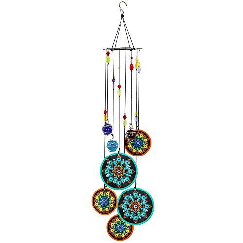 Peonyfun Mandala Wind Chimes Outdoor, Memorial Wind Chimes, Sympathy Wind Chimes for Garden,Patio, Home or Outdoor Decor
