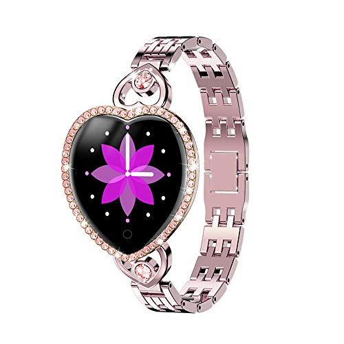 LHTCZZB Reloj de Diamante Pulsera Inteligente Bluetooth Pantalla táctil Completa Relaje de Fitness Tracker Monitoreo de Ritmo cardíaco Modo Deportivo Modo de Deporte Batería de Larga duración Batería