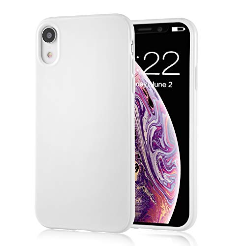 technext020 for iPhone XR White Case, Shockproof Ultra Slim Fit iPhone 10R Cover TPU Soft Gel Rubber Cover Shock Resistance Protective Back Bumper for Apple iPhone XR White