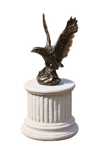 Steinfiguren Horn Adler, Skulptur aus Bronze ohne Sockel