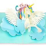 PaperCrush - Tarjeta pop-up con diseño de unicornio