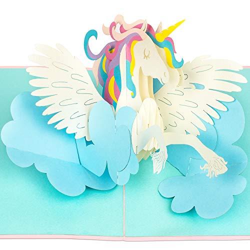PaperCrush® Pop-Up Karte Einhorn - 3D Geburtstagskarte, Süße Einhornkarte für Kinder Geburtstag, Teenager Mädchen - Lustige Glückwunschkarte zum Kindergeburtstag oder für Frauen, beste Freundin