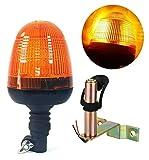 flexzon lampeggiante avviso ambra Led luce lampada & staffa trattore veicoli agricoli #C