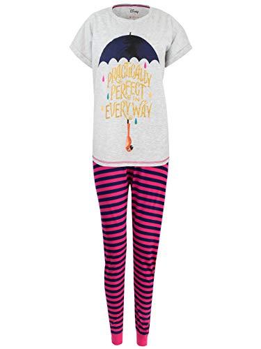Disney Damen Mary Poppins Schlafanzug Mehrfarbig Large