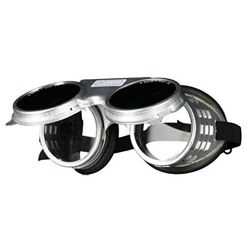 SCAPP Schweißerbrille FLASH, klappbar, für Gläser Ø 50 mm, inkl. Schutzgläser DIN 5, Schraubringbrille, Autogenbrille
