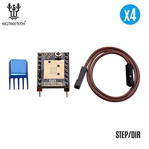 TMC2208 V3.0 Stepper Motor Driver Stepstick with Heatsink Cable Step/DIR and UART Mode 3D Printer Parts Compatible with SKR V1.3 V1.4 MKS GEN Ramps 1.4 Control Board