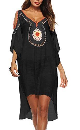 Lovelegis overtrek voor dames Mare - Pareo - meisjes - badge - strand - zwembad - tuniek - jurk - indianen - versierd - - Taglia Unica