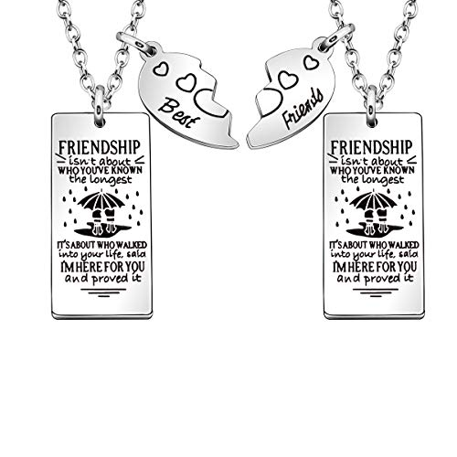 JJIA 2 Pcs Friendship Necklaces for Women Girls Thanksgiving Gifts Birthday Gifts (4)