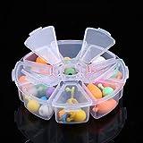 JONJUMP Caja de almacenamiento de plástico transparente ajustable para terminales pequeños componentes joyería caja de herramientas cuentas píldoras organizador de uñas arte caso de puntas