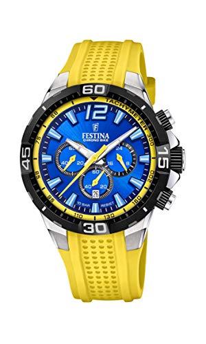 Festina Herren Analog Quarz Uhr mit Silikon Armband F20523/5