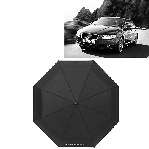 Car Travel opvouwbare paraplu, Paraplu ergonomische handgreep Auto Open & Close, Compact Portable Umbrella Met auto Logo,Volvo