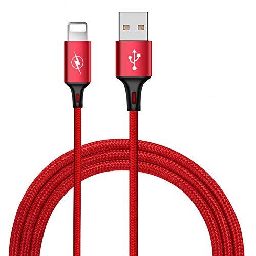 OMJNH USB-kabel, een datakabel appel korte nylon geweven snel opladen van toepassing iphone 2A oplaadkabel 1-3 m