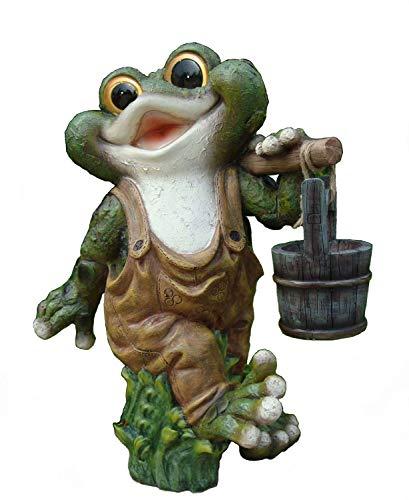 Frosch XXL 38 cm Hoch Deko Garten Gartenzwerg Figuren Dekoration (40 cm 11169-2)