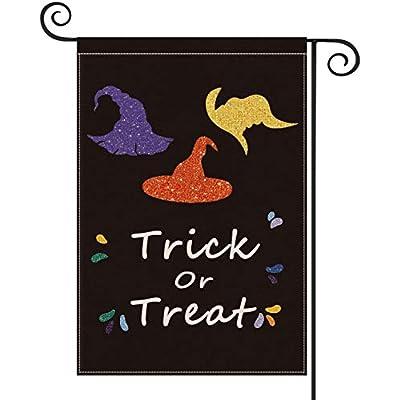Halloween Garden Flags, Trick or Treat Hallowee...