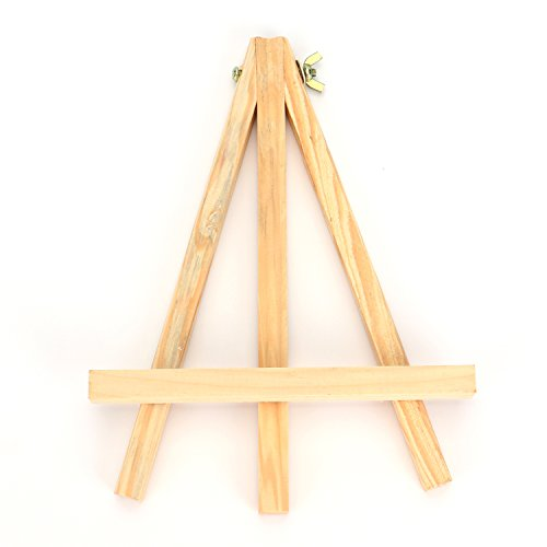 "Tosnail 9"" Tall Natural Pine Wood Tripod Easel Photo Painting Display Portable Tripod Holder Stand, 6 Pack"