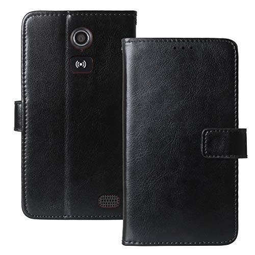 Dingshengk Flip Retro Leder Tasche Hülle TPU Silikon Für Doro Liberto 8031 4.5