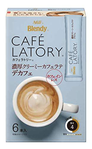 AGF ブレンディ カフェラトリー スティック 濃厚クリーミーカフェラテ デカフェ 6本×6箱 【 カフェインレスコーヒー 】【 スティックコーヒー 】