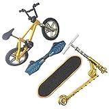 Fingerbike Spielzeug Set, Lernspielzeug Spaß Mini Bike Scooter für Kinder Finger Skateboard Set Abnehmbares Reconfigurierbares Austauschbares Leichtgewicht Kunststoff
