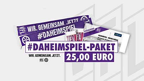 VfL Osnabrück #DAHEIMSPIEL Paket VFL Bochum mit Schal + Ticket + Schnapsgläser