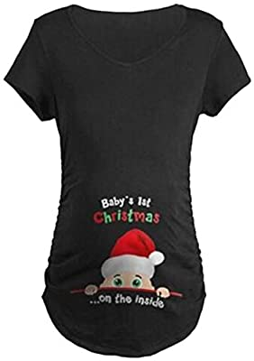 Maternity Casual Don't Eat Watermelon Seeds Letters T-shirt Funny Pregnancy Tee