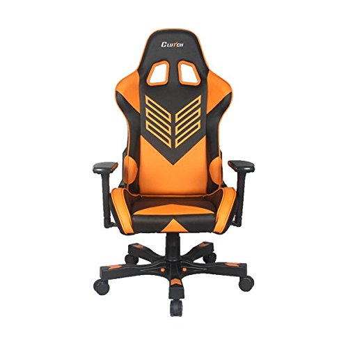 """CLUTCH CHAIRZ Crank Series """"Onylight Edition"""" World's Best Gaming Chair (Black/Orange) Racing Bucket Seat Gaming Chairs Computer Chair Esports Chair Executive Office Chair w/Lumbar Support Pillows"""