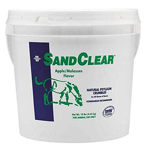 Farnam SandClear Natural Psyllium Crumbles, supports the removal of sand and dirt, 10 pound