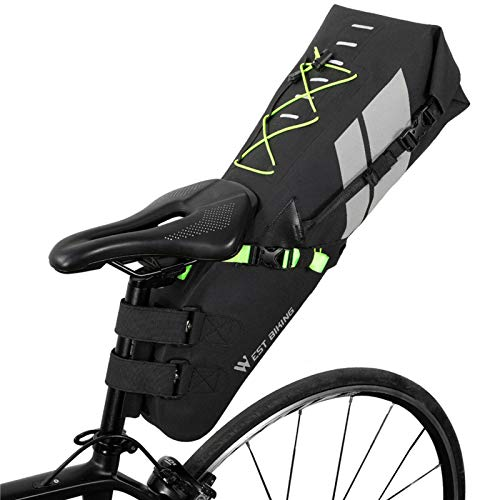 Lixada Bolsa de Bicicleta Impermeable Reflectante Bolsa de Sillín de 10/17L Gran Capacidad Equipo de Ciclismo MTB Paquete de Cola