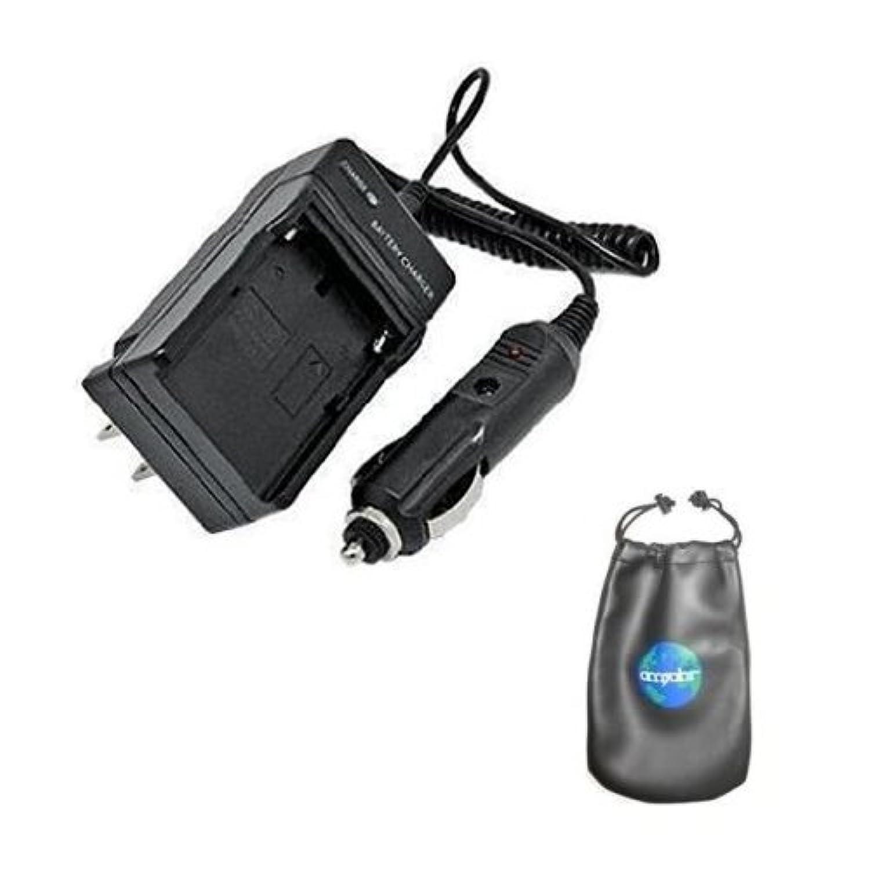 Amsahr C-ENEL14 Digital Replacement Mini Battery Travel Charger for Nikon EN-EL14, MH-24, Coolpix D3100 with Lens Accessories Pouch (Gray)