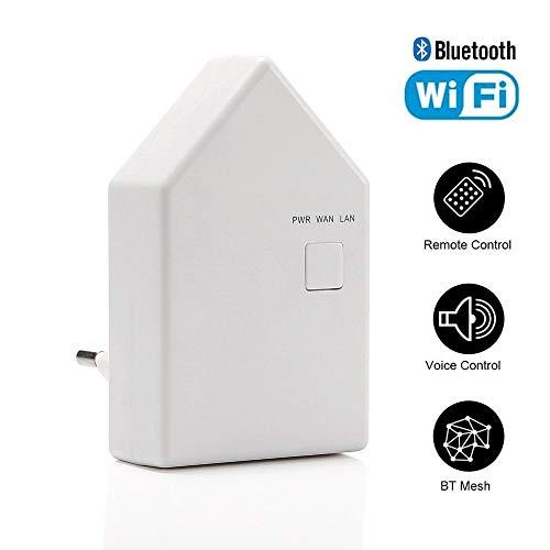 Bluetooth Mesh Smart Home WiFi Hue Hub Bridge Gateway RGBW CCT Controller für Innr LED-Deckenleuchte, LED-Lampe, LED-Lichtleiste, Kompatibel mit Amazon Alexa/Google Home
