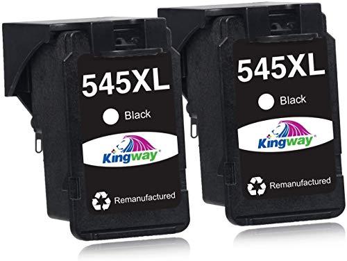 Kingway Kompatibel Canon PG-545XL CL-546XL Druckerpatronen für Canon PIXMA MX495 iP2850 MG2450 MG2550 MG2550S MG2950 MG3050 MG3051 MG3052 MG3053 TS205 TS305 TS3150 TS3151 (2 Schwarz)