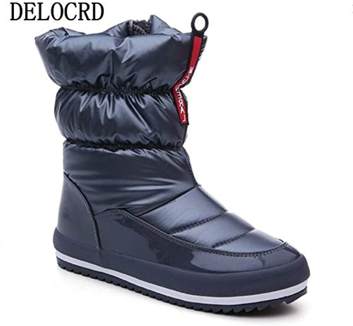 DDL- Snow Boots   Snow Boots Female Winter New Plus Velvet Warm Boots Waterproof Non-Slip Wild Short Boots Hot Brand Women's Cotton shoes Footwear