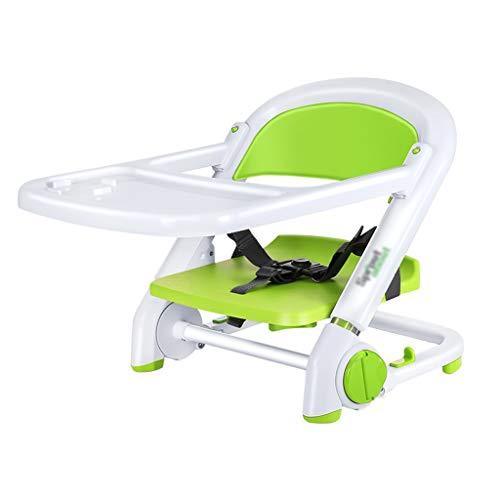 Qujifangedcy Enfants Dinant La Chaise, Tabouret Se Pliant Portatif Se Pliant Portatif De Chaise De Bureau d'ajustement Multifonctionnel, pour La Maison, pour Les Enfants 0-3 Ans (Couleur : Green)
