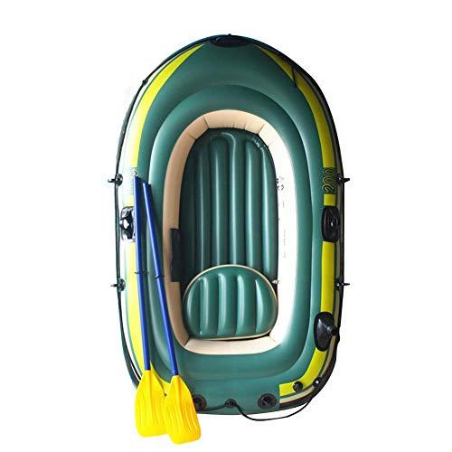 likeitwell Aufblasbares Kajak, Schlauchboot-Set, 2-3 Personen PVC Schlauchboot Rafting Angeln Beiboot Tender Pontonboot Mit Ruder Luftpumpe Rafting Gummiboot Für Wassersportspaß