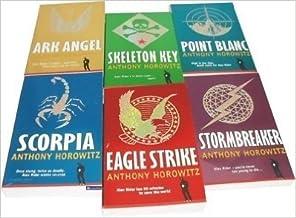 Set of Six Alex Rider Books, Storm Breaker, Point Blank, Eagle Strike, Skeleton Key, Scorpia, Ark Angel (Alex Rider)